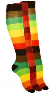 chaussettes hautes muticolores
