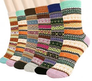 chaussettes en laine bariolées